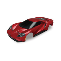 8311r Body, Ford GT®, red (painted, decals applied) (tail lights, exhaust tips, & mounting hardware (part #8314) sold separately)
