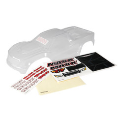 8911 - Body, Maxx® (clear, requires painting)/ window masks/ decal sheet