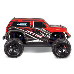 76054-5 - LaTrax® Teton: 1/18 Scale 4WD Electric Monster Truck. Ready-To-Race® and Powered by Traxxas® with ESC (fwd/rev) and brushed motor. Includes: 6-cell 7.2V NiMH battery with AC charger
