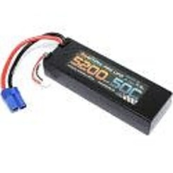 PHB2S520050CEC5HCS5200mAh 7.4V 2S 50C LiPo Battery with Hardwired EC5 Connector