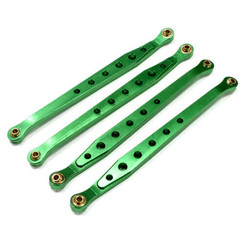 C23789GREEN Billet Machined Alloy Chassis Linkage (4) for Axial Wraith