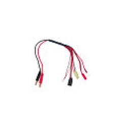 RCE16255-Function Mini/Micro Charge Adapter to Male 4mm Bullets-300mm