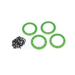 8168G - Beadlock rings, green (2.2') (aluminum) (4)/ 2x10 CS (48)
