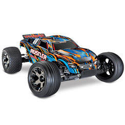 37076-4 - Rustler® VXL: 1/10 Scale Stadium Truck. Ready-to-Race® with TQi Traxxas Link™ Enabled 2.4GHz Radio System, Velineon® VXL-3s brushless ESC (fwd/rev), and Traxxas Stability Management (TSM)®.