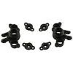 RPM73162 Axle Carriers, Black: 1/16 EVR/SLH