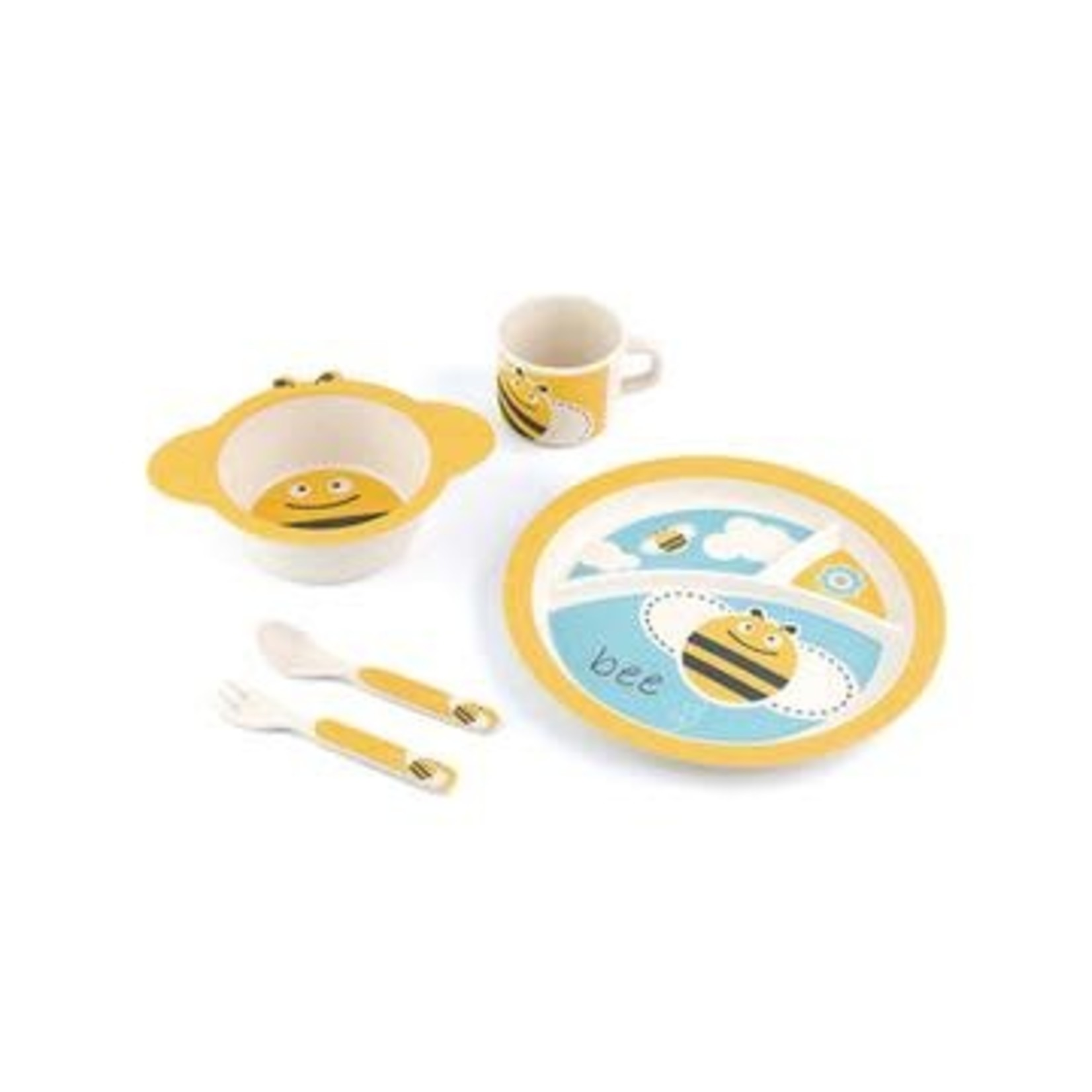 Petersons Housewares Peterson Bamboo Kids Plate Sets