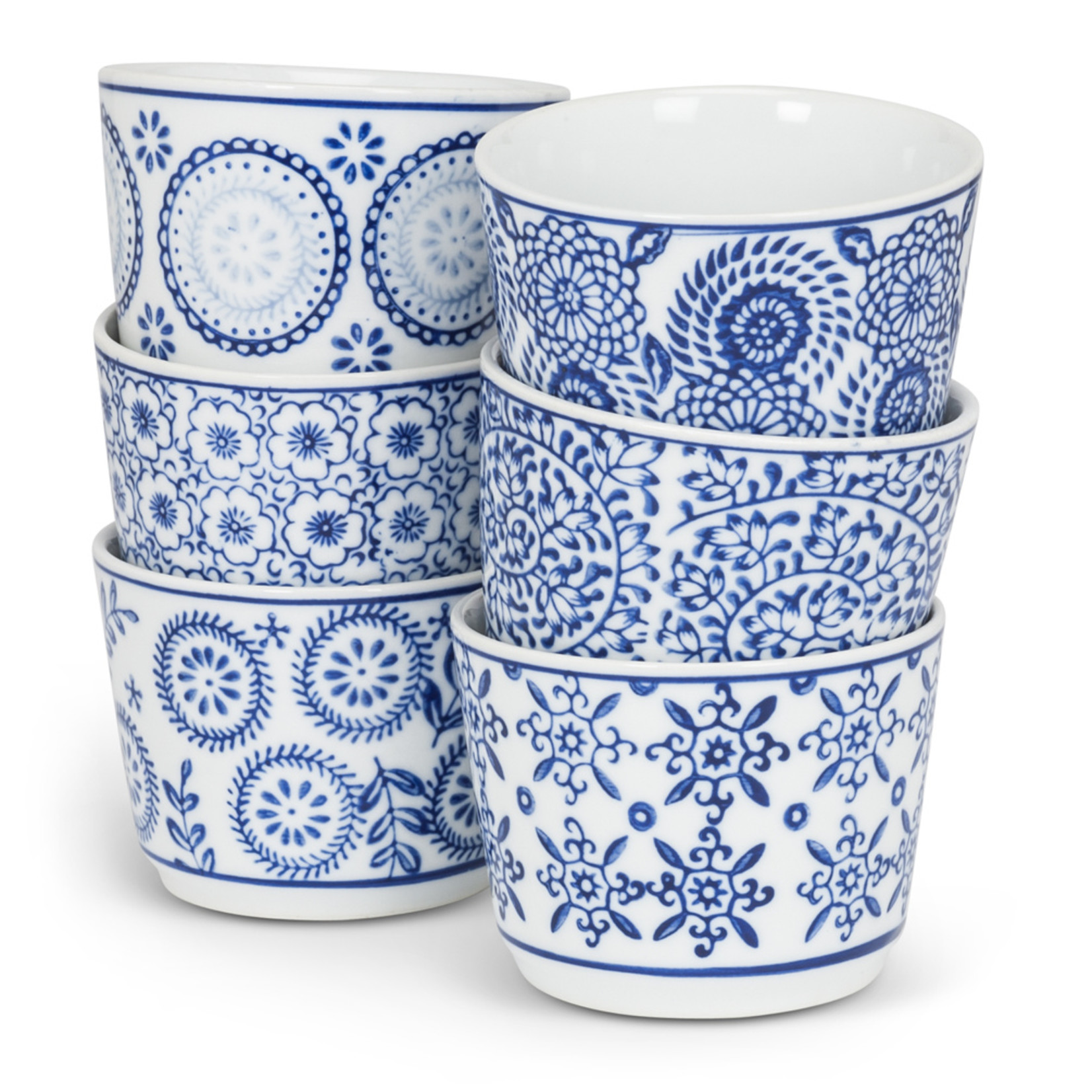 Abbott Blue and White Dip cups