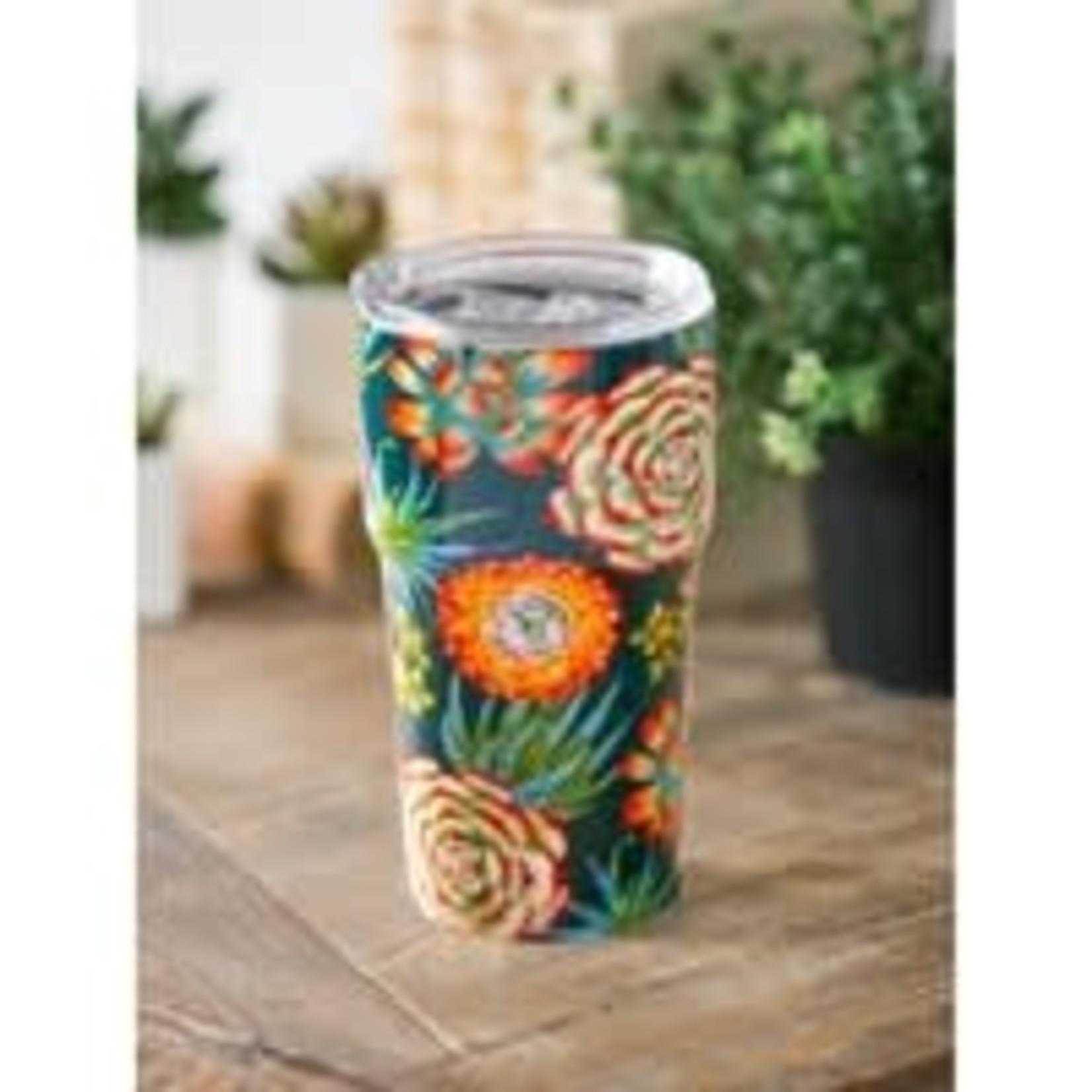 Cypress Home Evergreen Succulent Toss Travel Mug