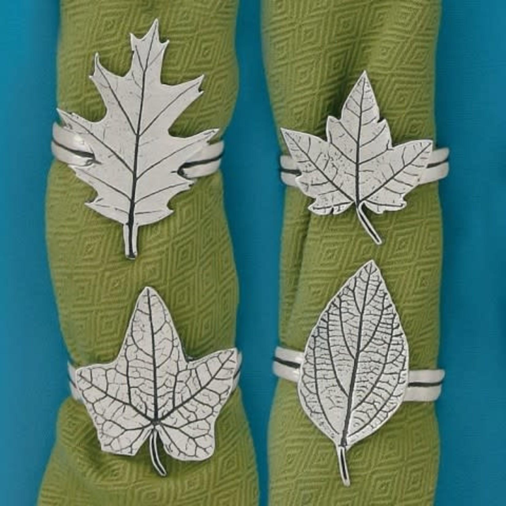Basic Spirit Assorted Leaves Napkin Ring