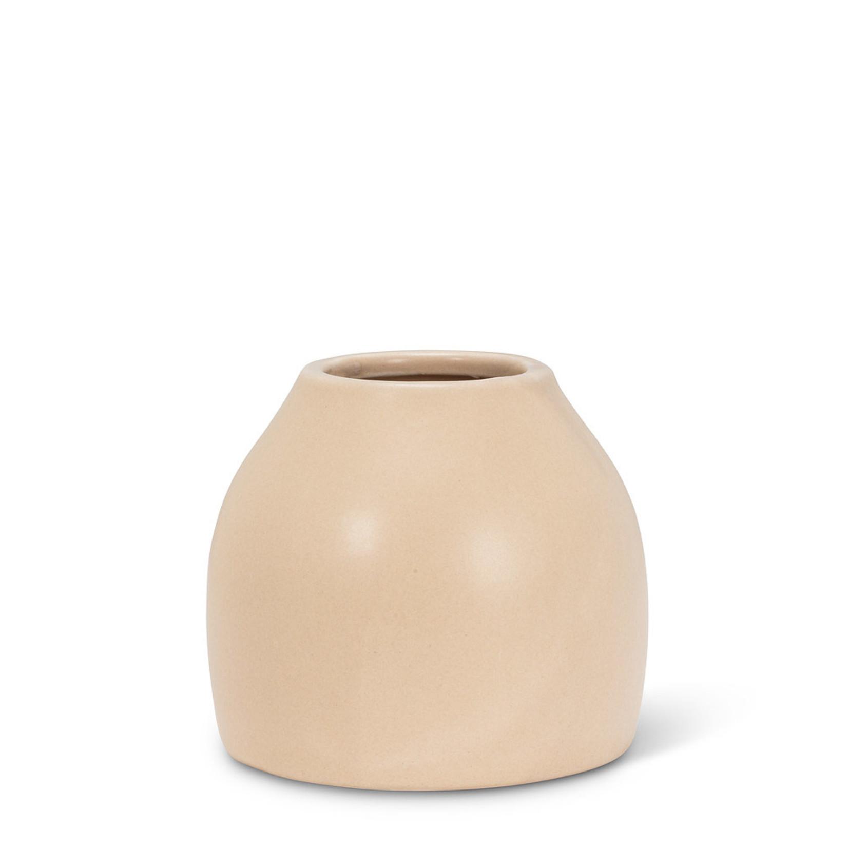 Abbott Small Matte Vase beige