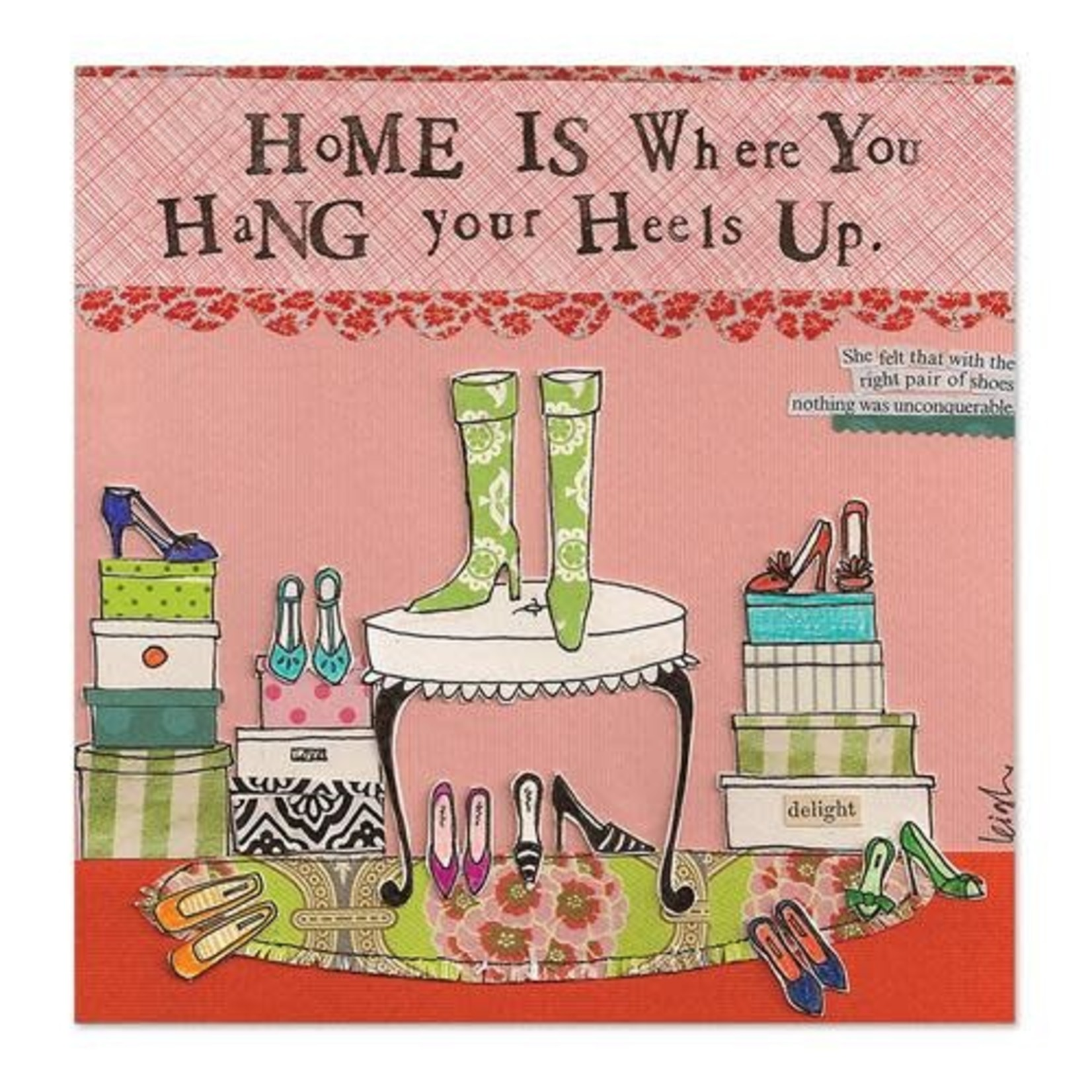 CURLY GIRL CARD Hang your Heels up