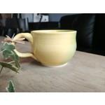 Cathy Lombard Pottery Thumb Print Mug green yellow