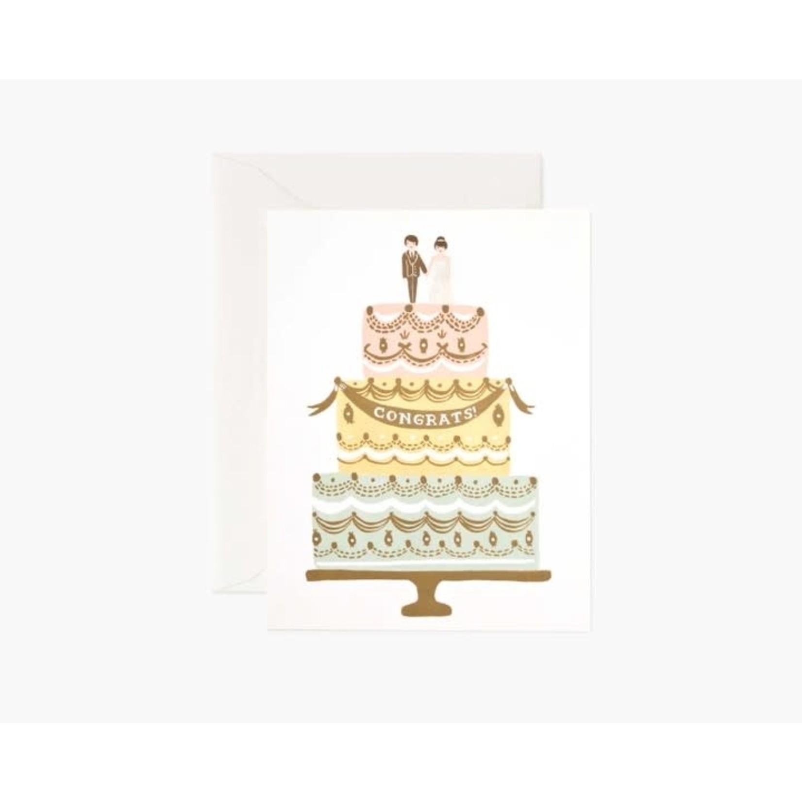 Rifle Paper Co. Congrats Wedding Cake