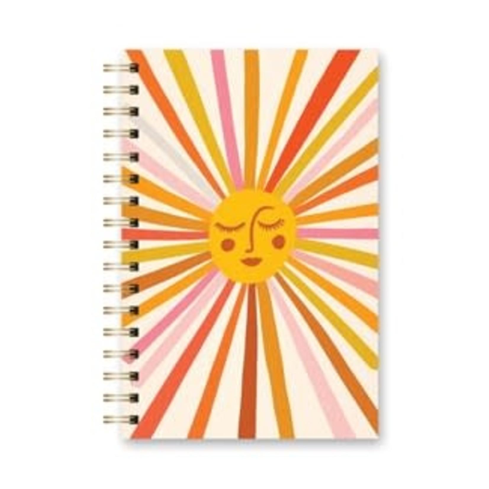 Orange Circle Studio Spiral Notebook Retro Sunshine