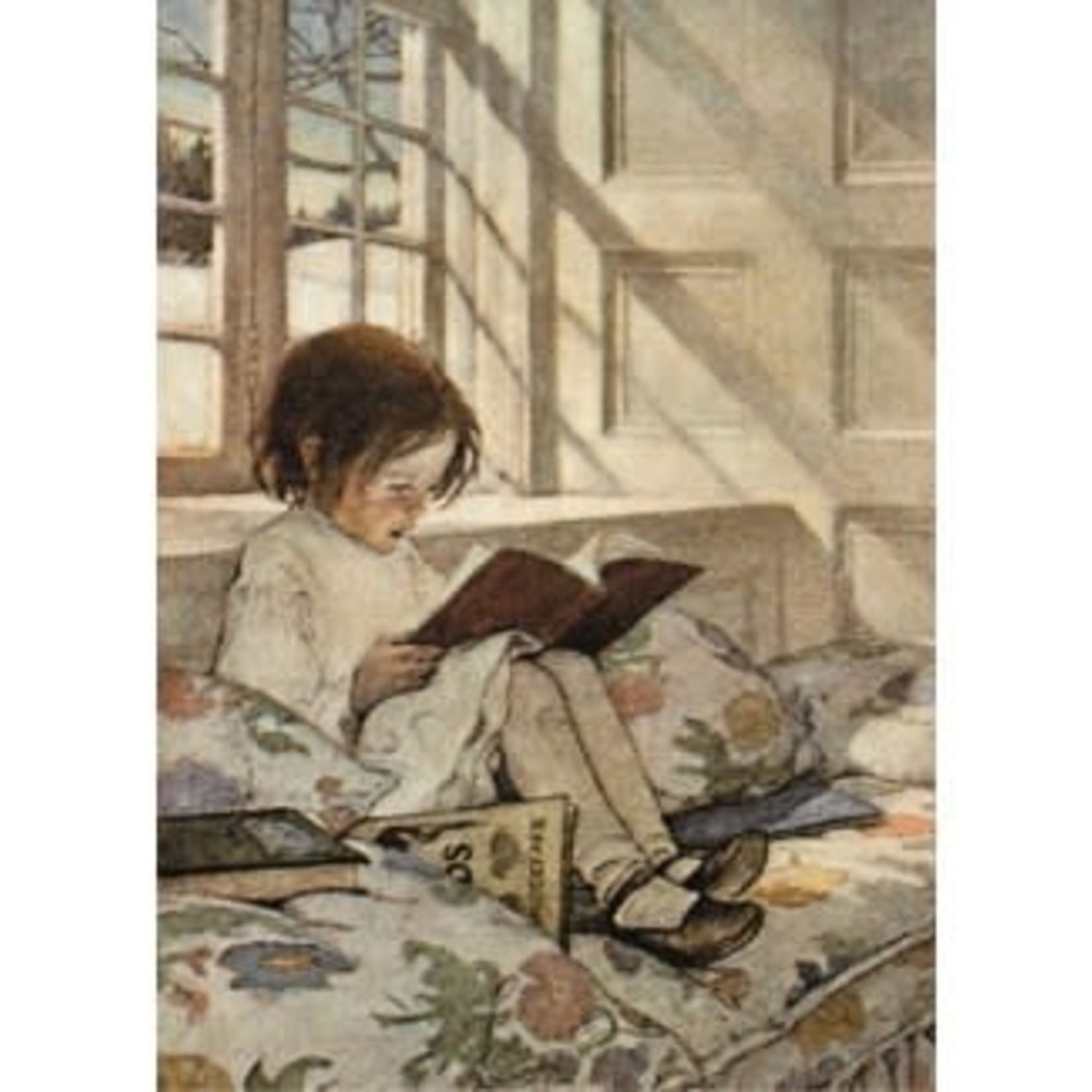 Museums and Galleries Girl Reading Card