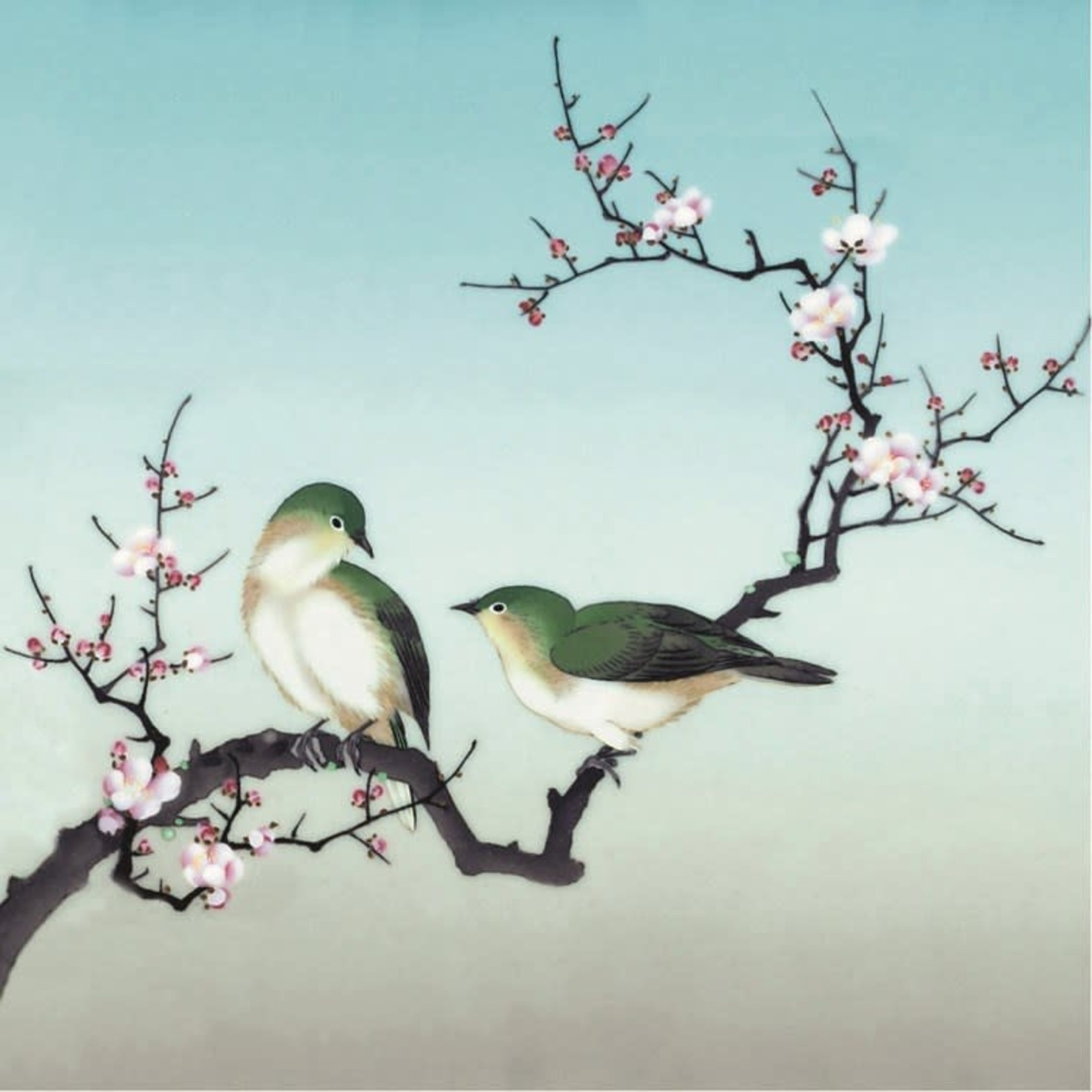 Museums and Galleries Plum Blossom Birds Card
