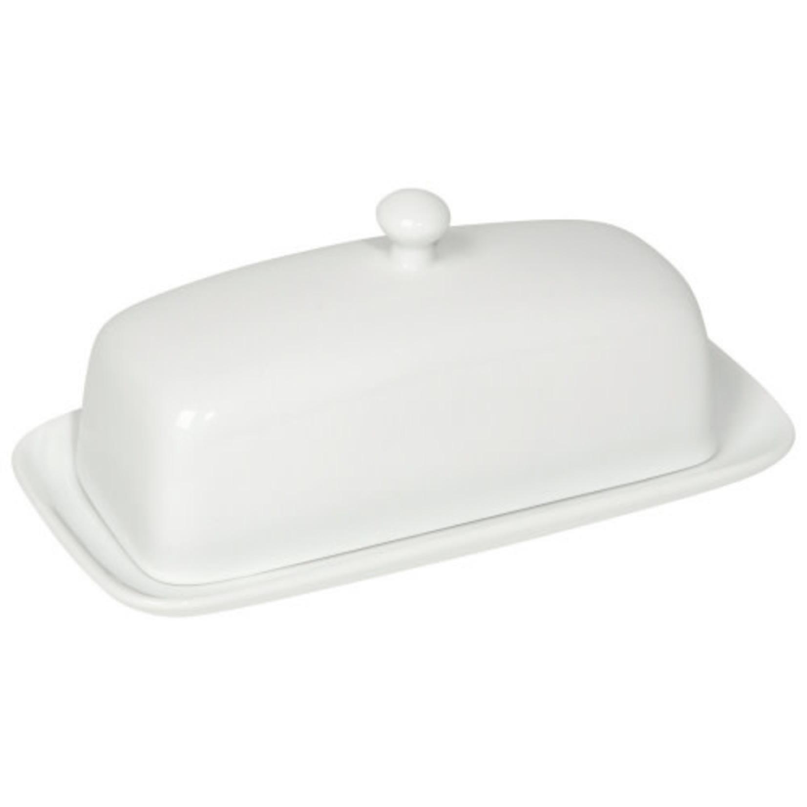 Danica Butter Dish rect. white