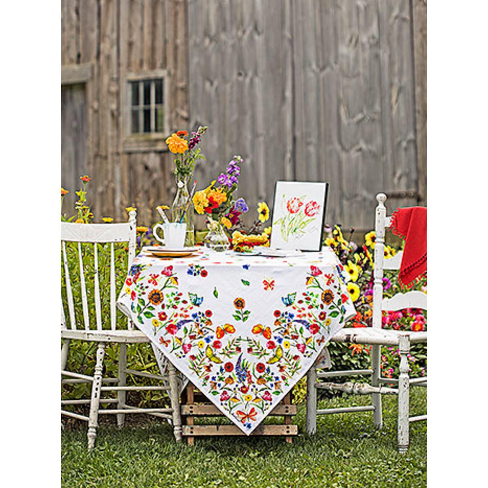 April Cornell Sister Garden 54x54 Tablecloth