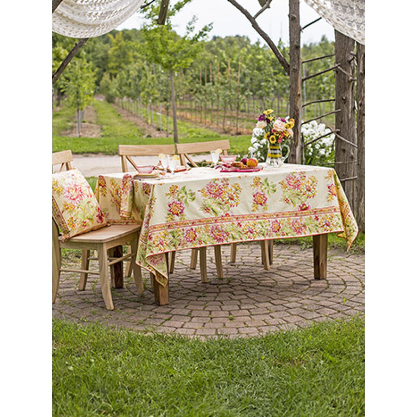 April Cornell Dahlia Days 54x54 Tablecloth