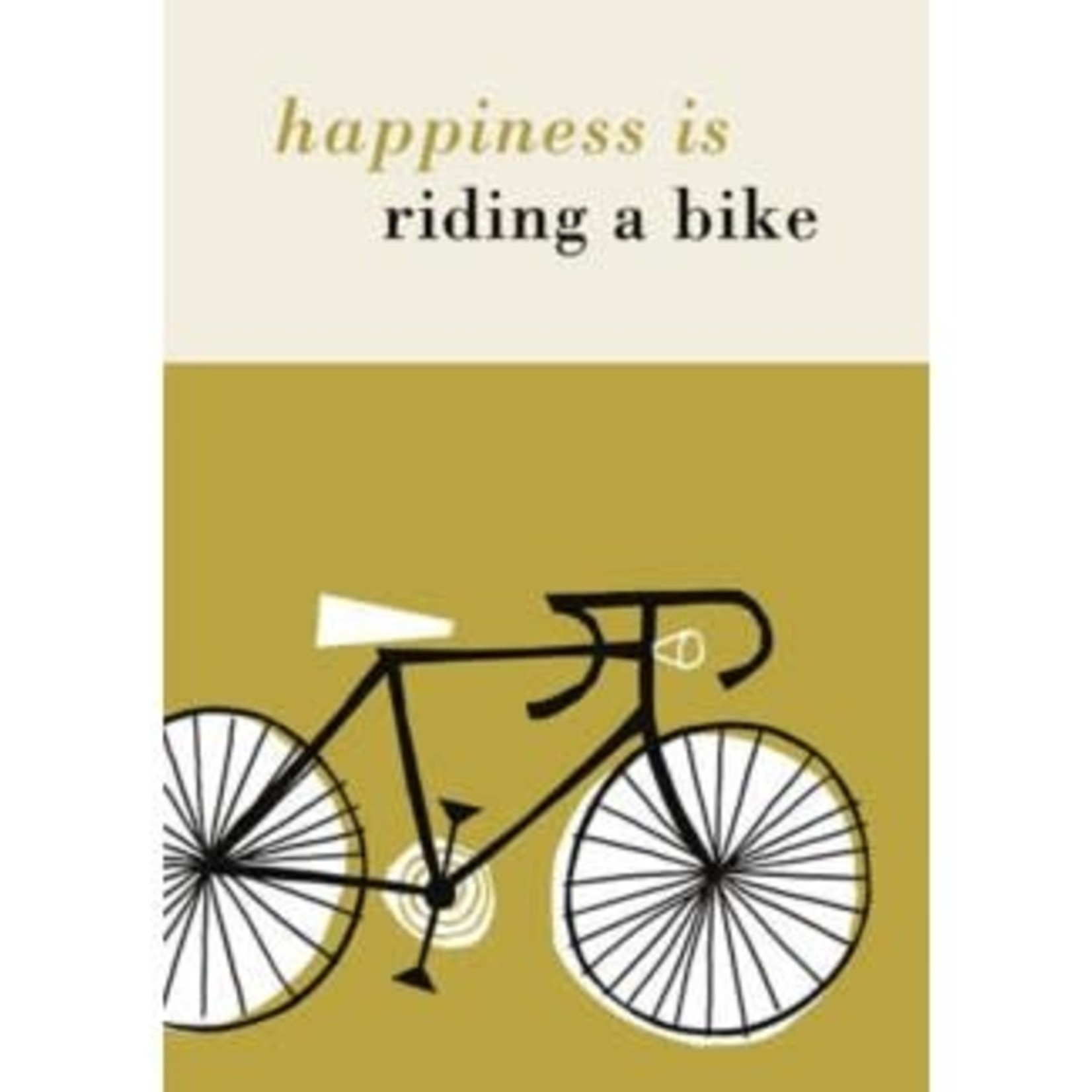 Art Press Happiness is Riding a bike