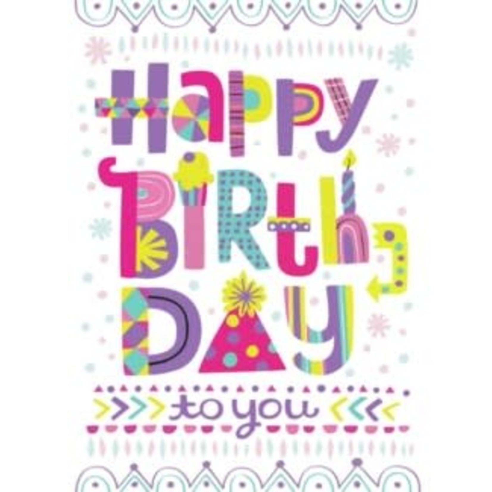 Peaceable Kingdom Happy Birthday Lettering