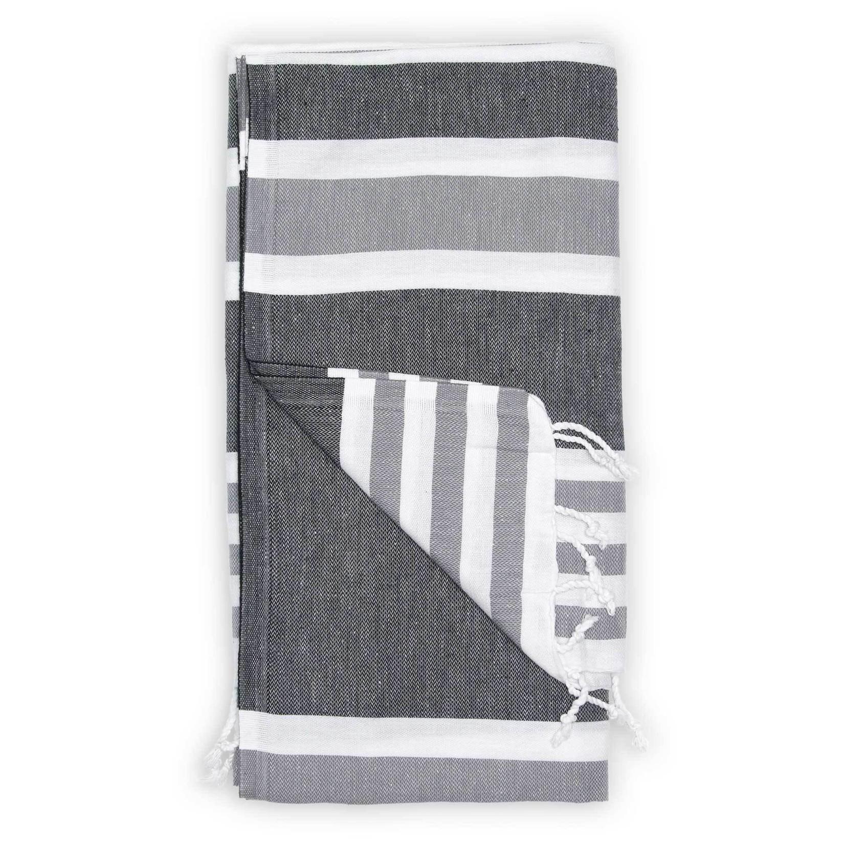 Pokoloko Turkish Towel Ariel Black