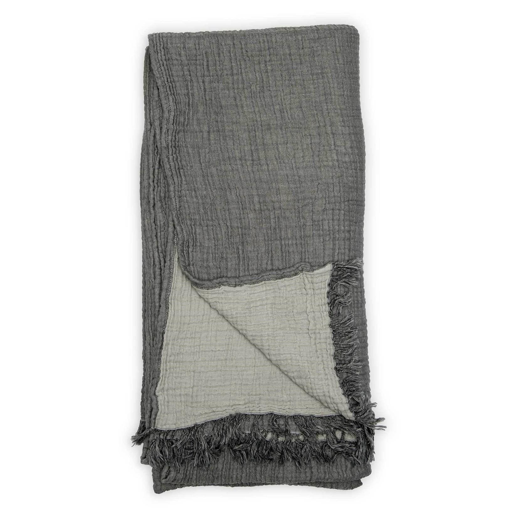 Pokoloko Throw Crinkle Charcoal/Grey