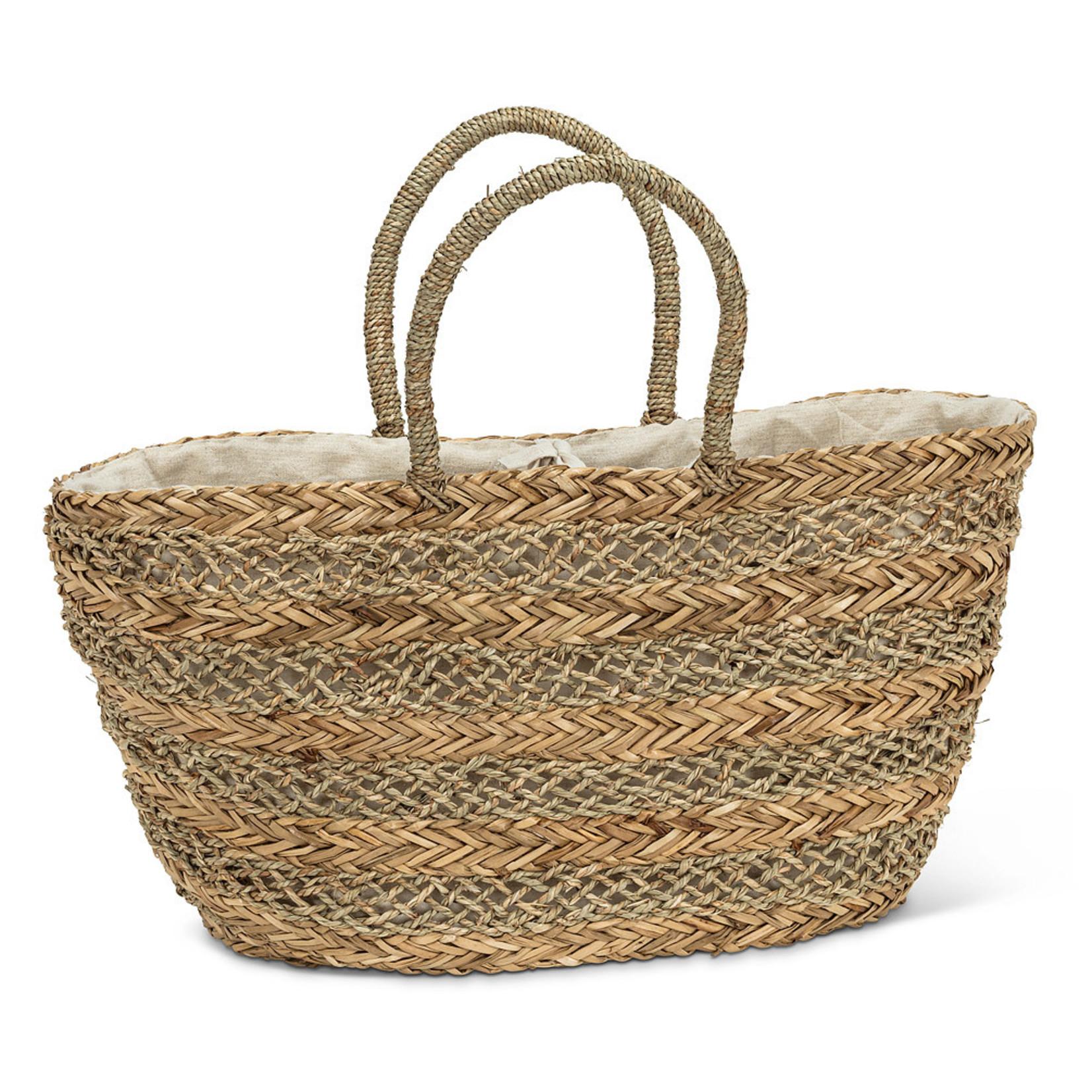 Abbott Abbott Woven Striped Market Bag