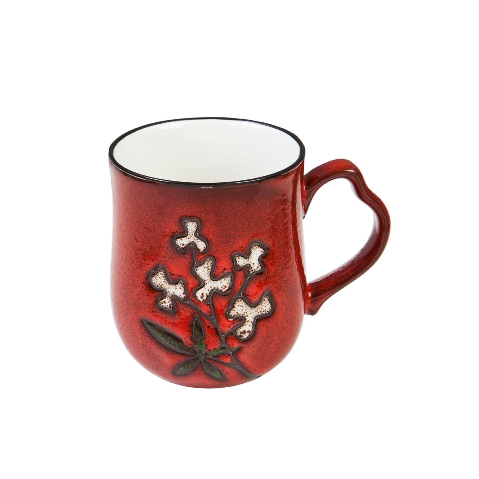 Artisan Series Red Wistful Floral 10oz mug