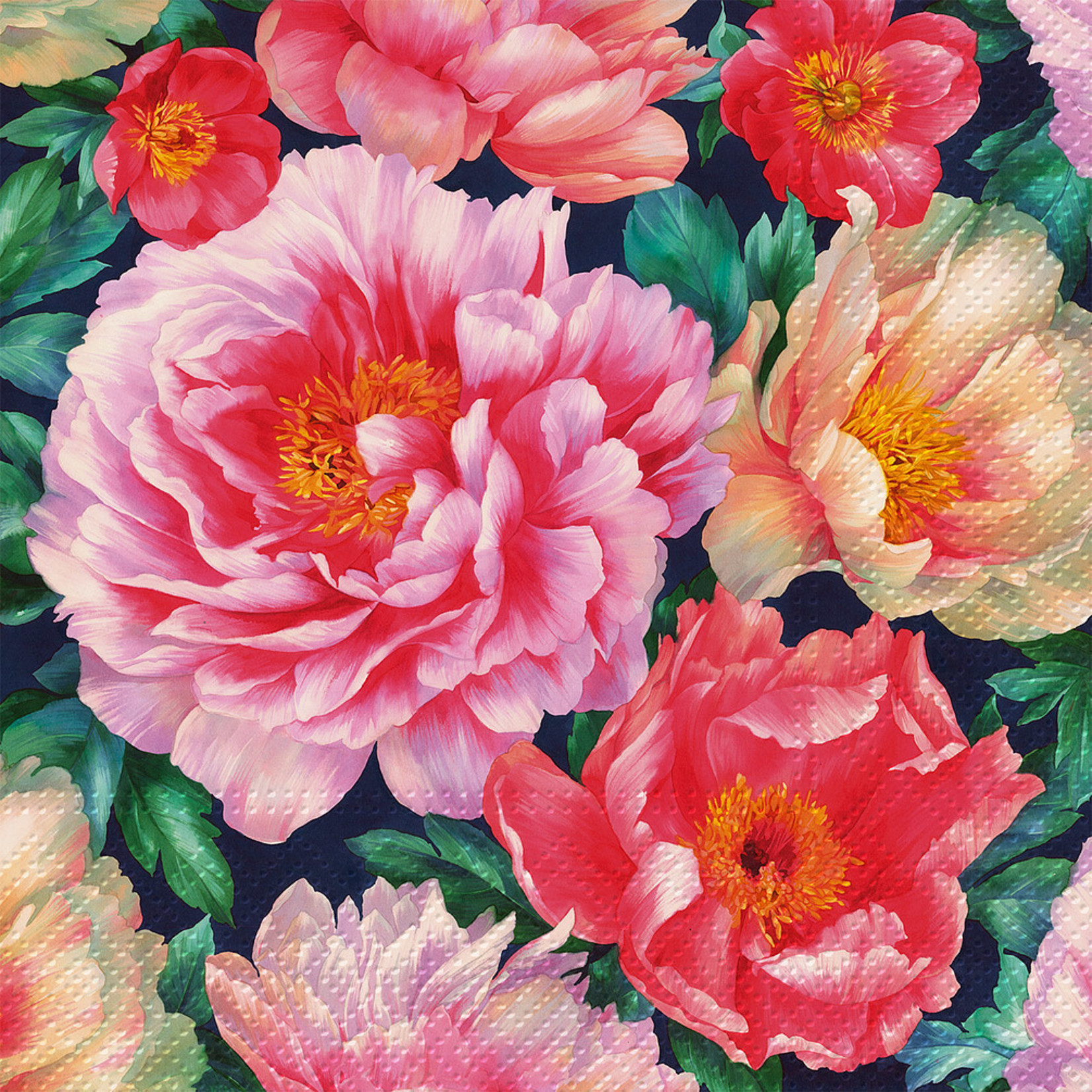 Abbott Peonies Bloom Napkin