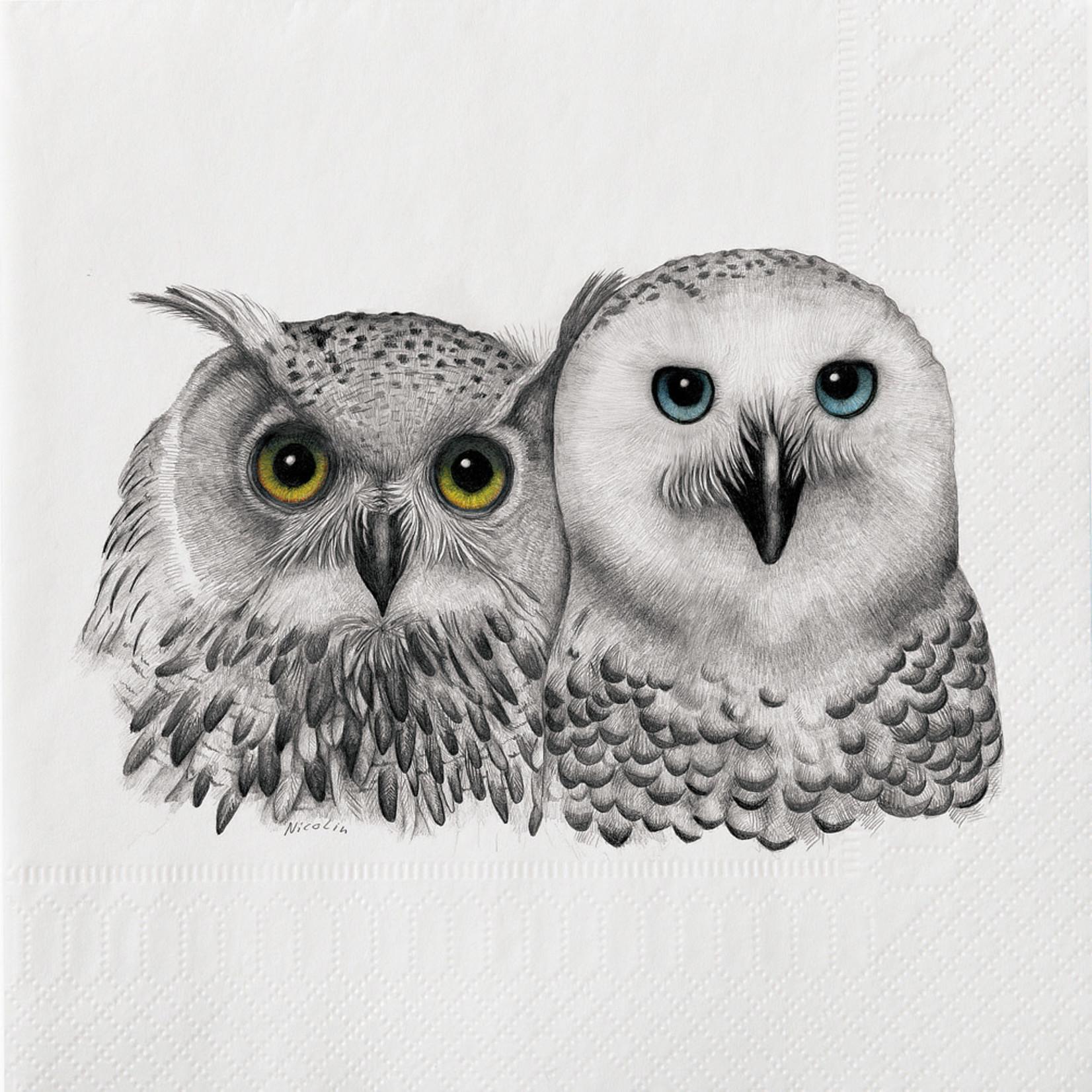 Abbott 2 owls Napkin