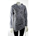 LEOPARDS AND ROSES RJ-T21109-LGR  7 THREAD HOODY