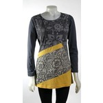 LEOPARDS AND ROSES TT-T21924-DGR PATCH TOP