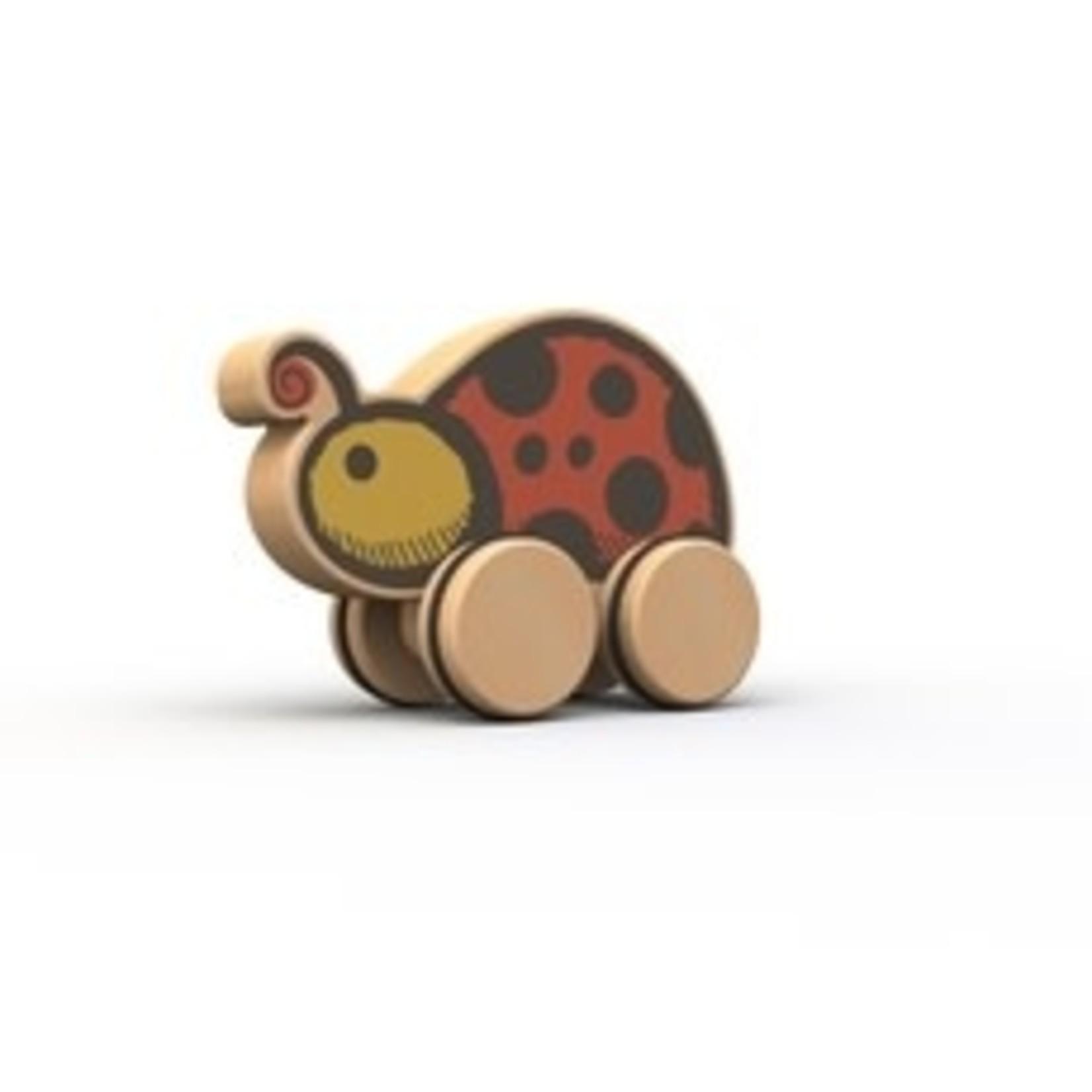 BeginAgain Toys PushAround-Ladybug