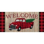 Sassafras Holiday Plaid Truck Switch Mat