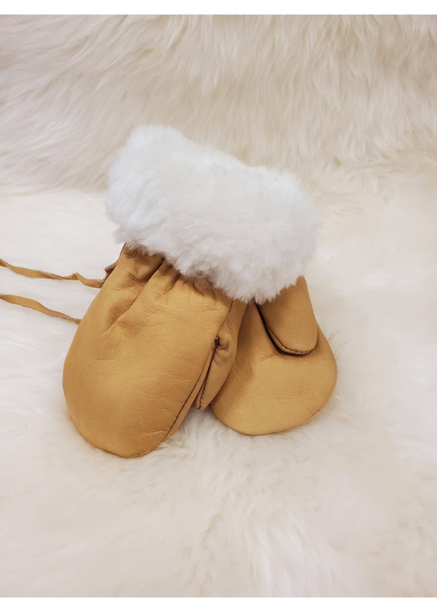 LEATHER MITTENS K235