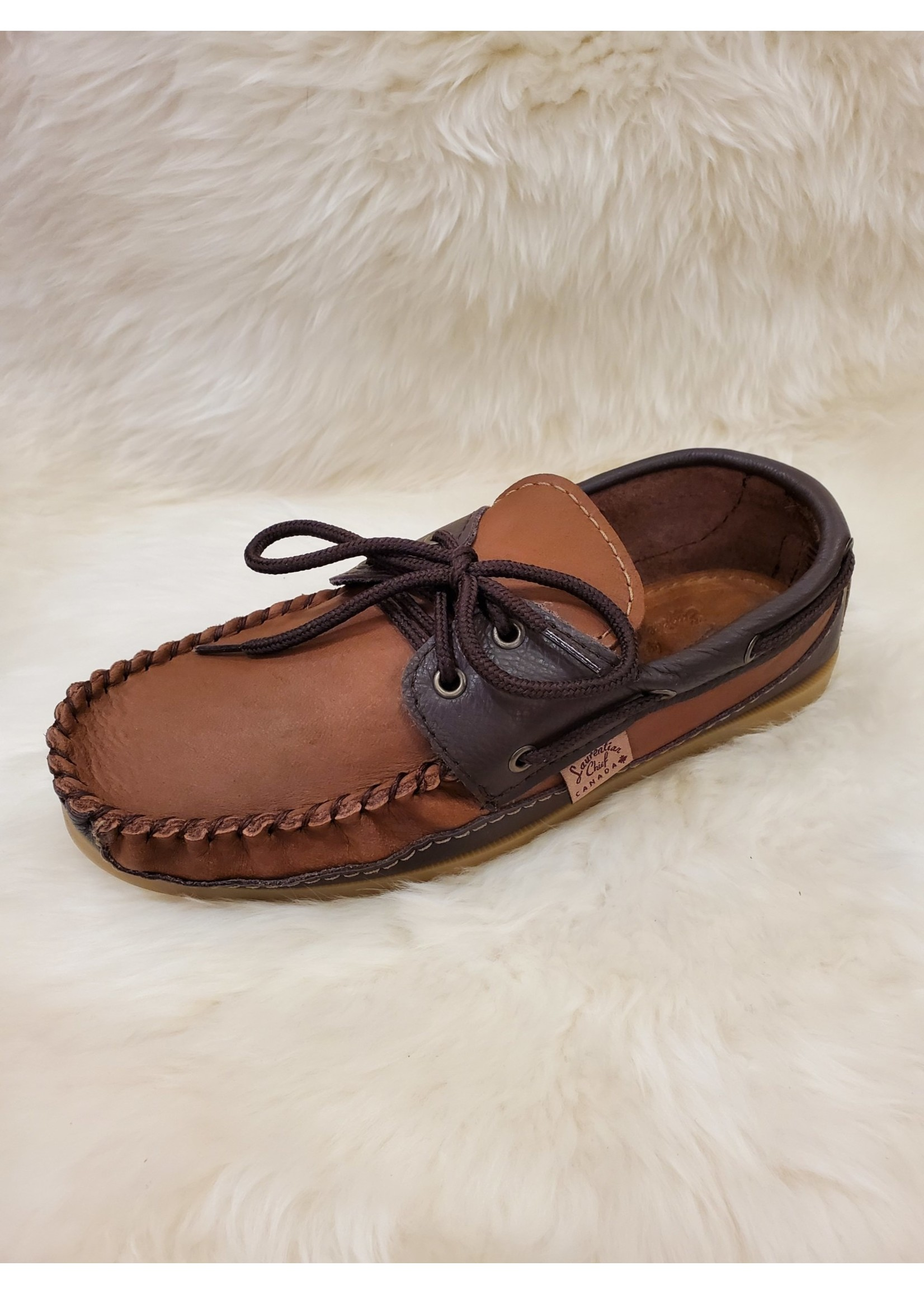 LAURENTIAN CHIEF LEATHER MOCCASINS 37756M