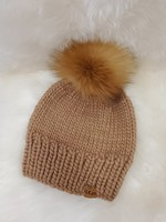 LITTLE KNITS HAND-KNIT BEANIE WITH RED FOX