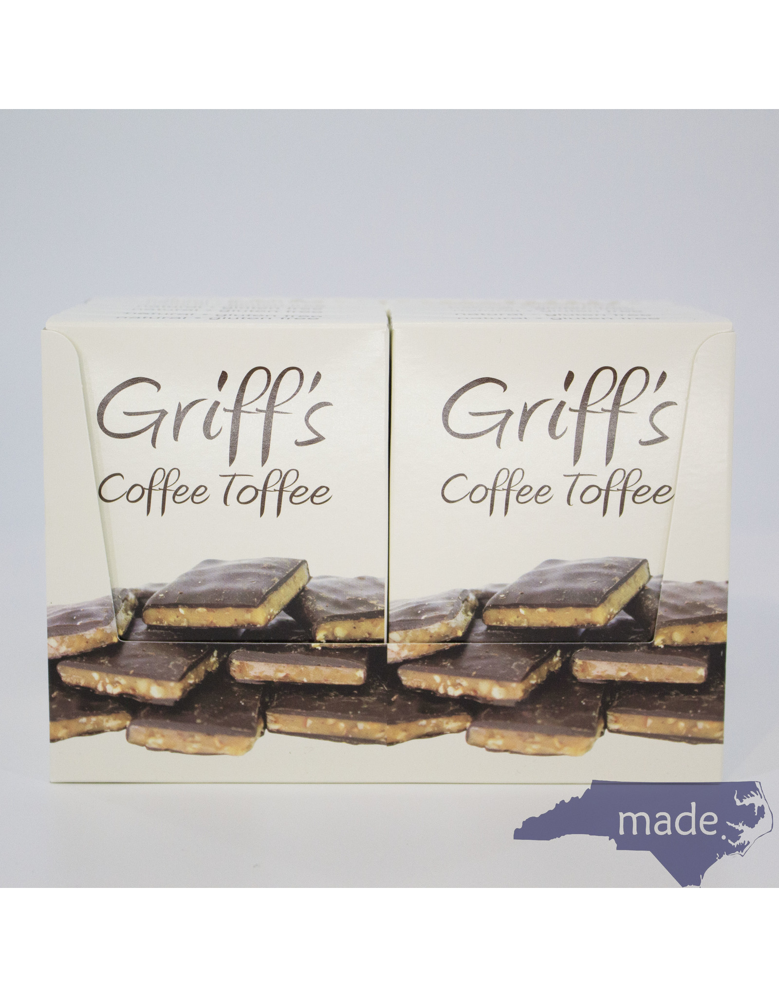 Chapel Hill Toffee 12-pk of Griff's Coffee Toffee (2 oz.) - Chapel Hill Toffee