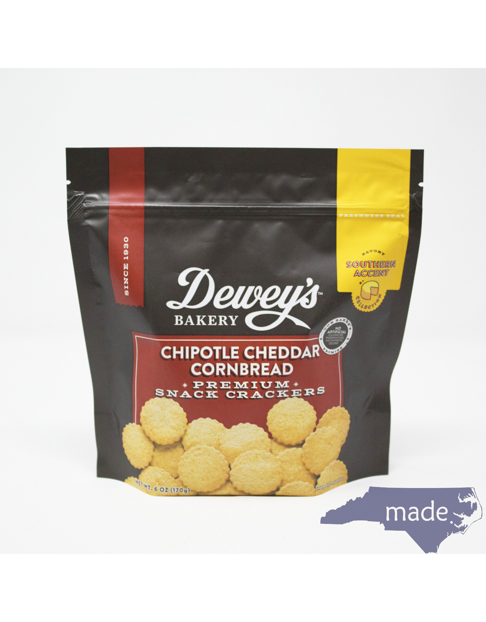 Dewey's Bakery Chipotle Cheddar Cornbread Crackers - Dewey's Bakery