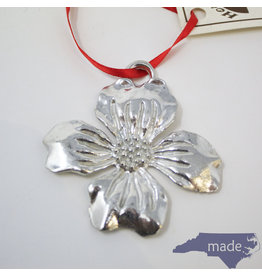 House of Morgan Pewter Dogwood Ornament
