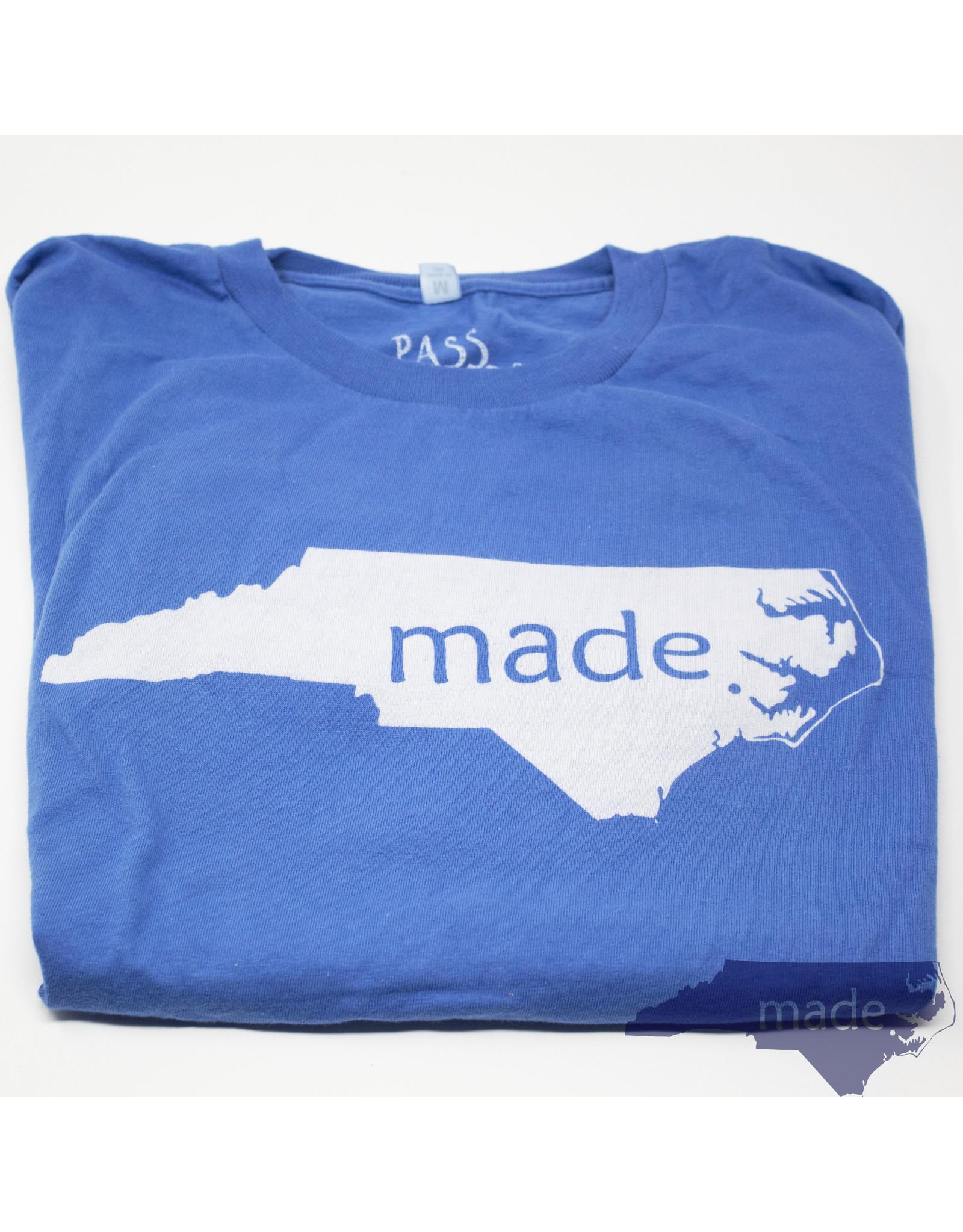 Pass The Gravy Made In NC T Shirt Blue XL - Pass The Gravy