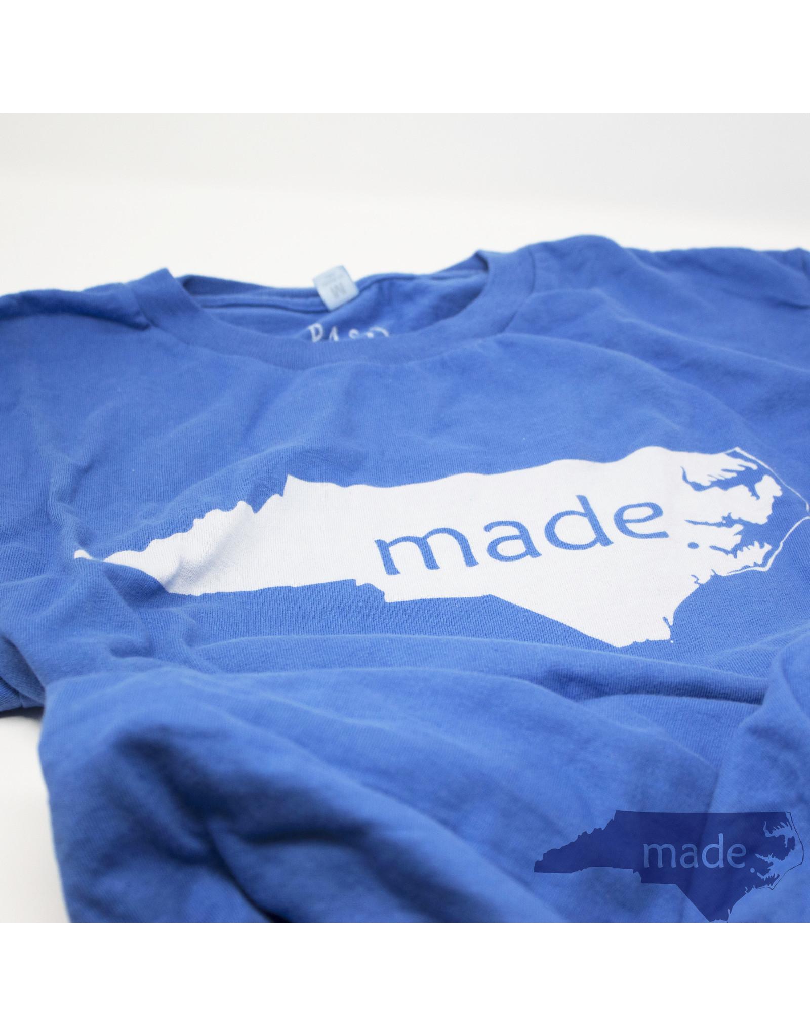Pass The Gravy Made In NC T Shirt Blue Medium - Pass The Gravy