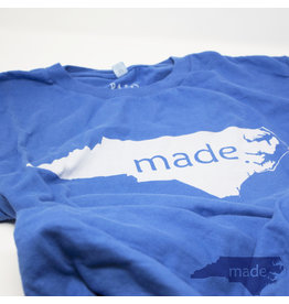 Pass The Gravy Made In NC T Shirt Blue Small