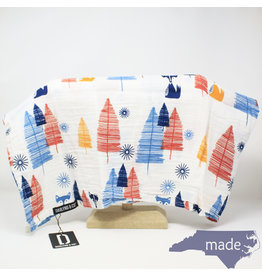 Darlyng & Co Muslin Swaddle Blanket Feather Print