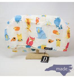 Darlyng & Co Muslin Swaddle Blanket Fox Print