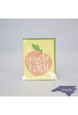 Little Lovelies You're a Peach Card - Little Lovelies