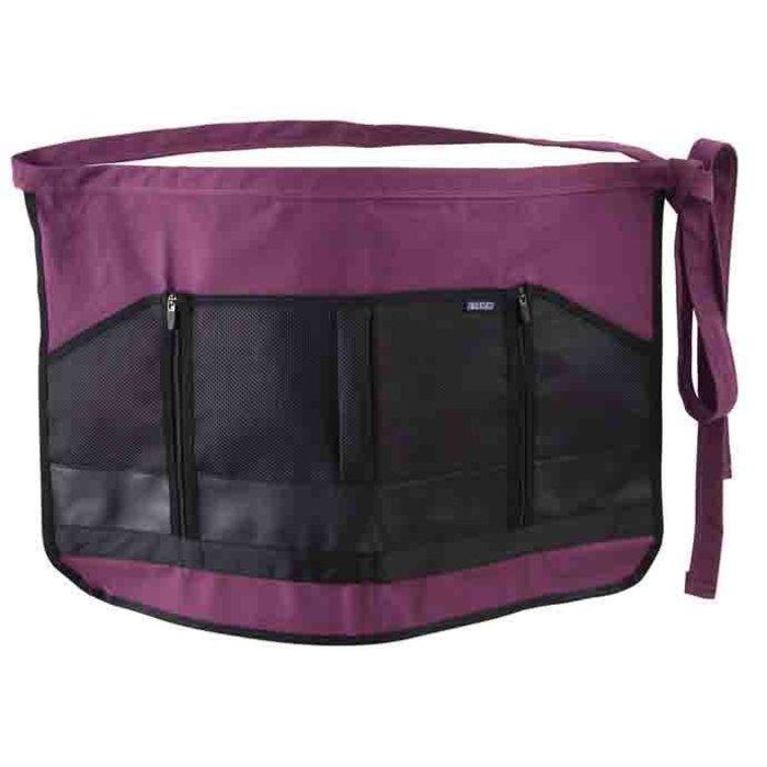 Garden Apron w/Zipper Pocket Purple Dramm