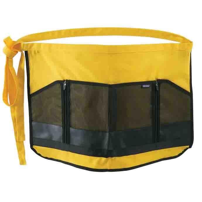 Garden Apron w/Zipper Pocket Yellow Dramm