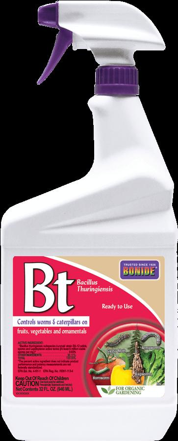 1Qt BT Thuricide RTU Insecticide Bonide